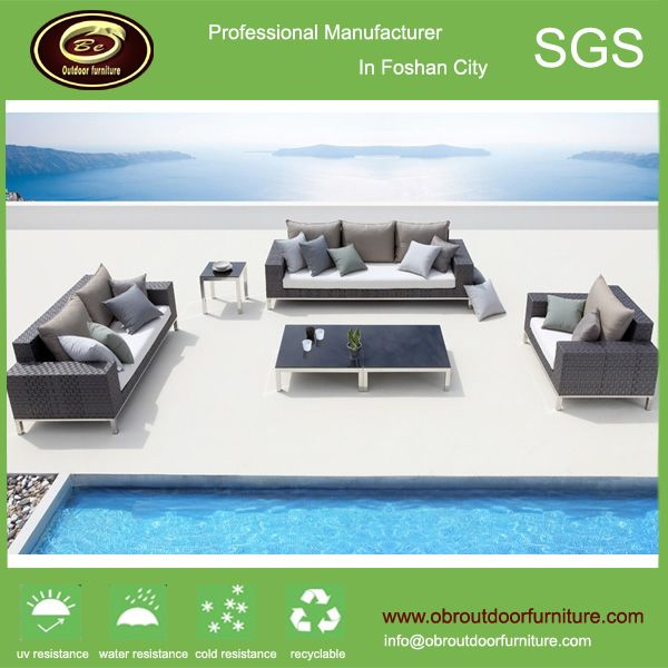 Morden Rattan Sofa Set Metal Frame Outdoor Furniture