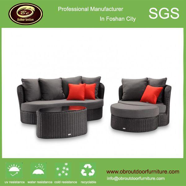 wicker rattan garden sofa rattan garden sofa chair with footrest china outdoor rattan garden